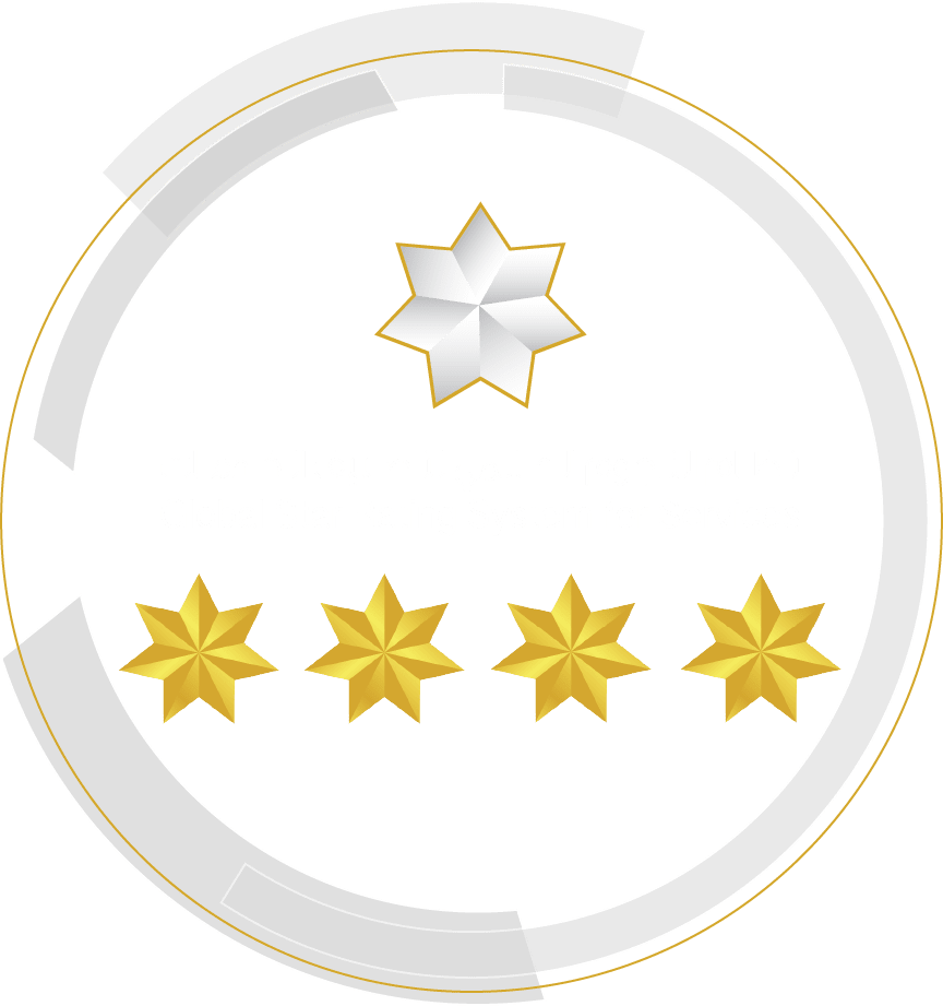Rated 4 Stars by the Global Star Rating System for Services