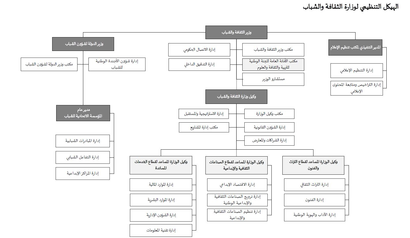 الهيكل التنظيمي